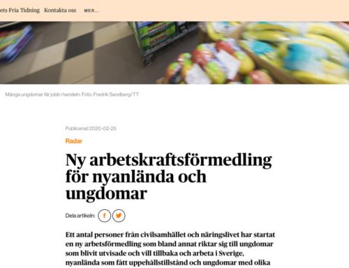 """""""Ny arbetskraftsförmedling för nyanlända och ungdomar"""""""